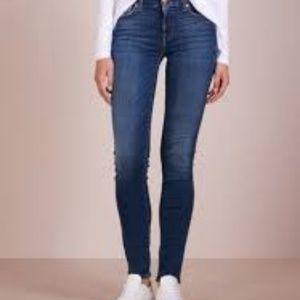 7 FOR ALL MANKIND ROXANNE MID RISE SLIM jean 25